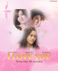 I LOVE YOU by song hye mi poster 2