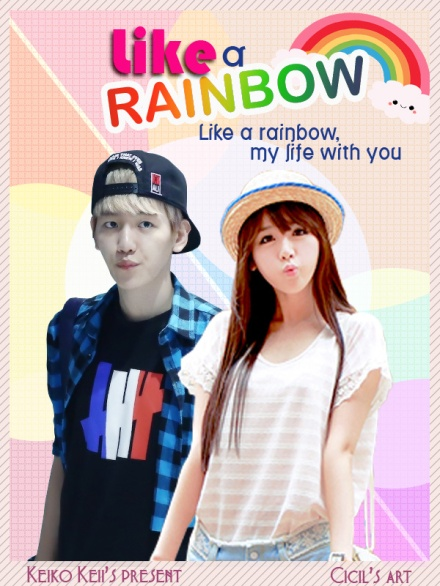 poster like a rainbow