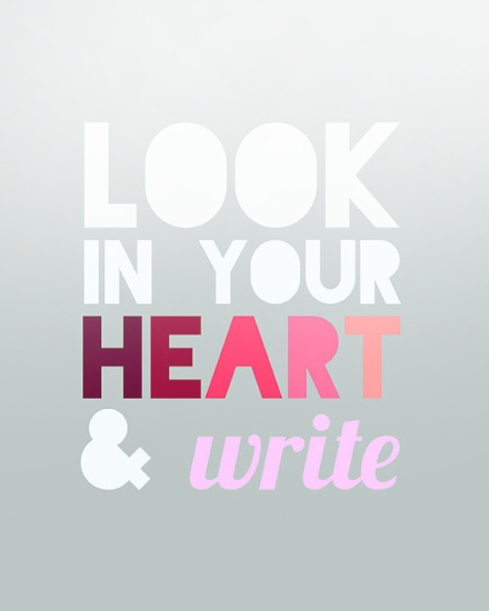 poster look in your heart